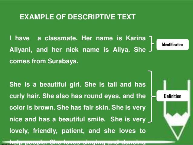 Kumpulan Contoh Descriptive Text Pendek Terbaik Bahasa Inggris