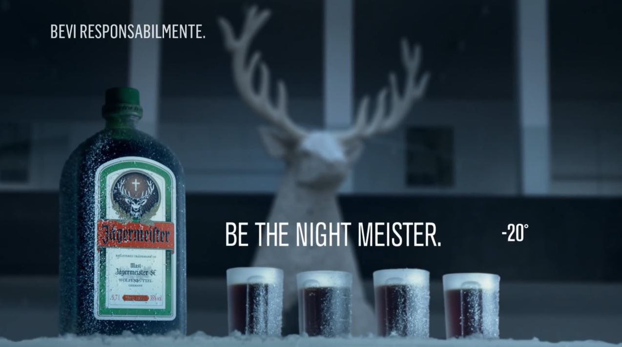 Canzone Jagermeister ''Be the Night Meister'' Pubblicità con cavallo