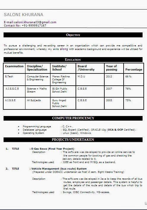 Download Resume Formats. Name Resume Sample Formats Download Page ...
