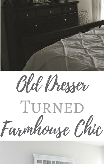 Old Dresser Turned Farmhouse Chic