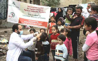 Polio vaccination in Middle East