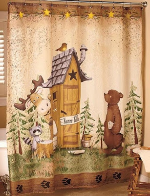 Bear Themed Shower Curtains