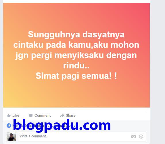 CARA UPLOAD STICKER DEKAT STATUS FB !