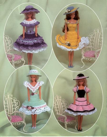 Pattern Vestidinho de Crochê Para Barbie  Summer Time Fashions