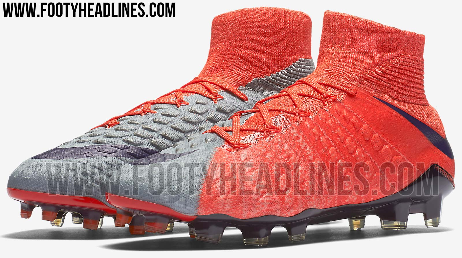 nike hypervenom grise et orange