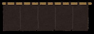 暖簾のイラスト(黒)