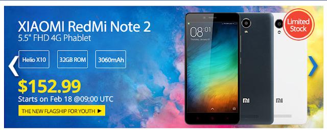El Xiaomi Redmi Note 2 se rebaja a 140 euros en Everbuying