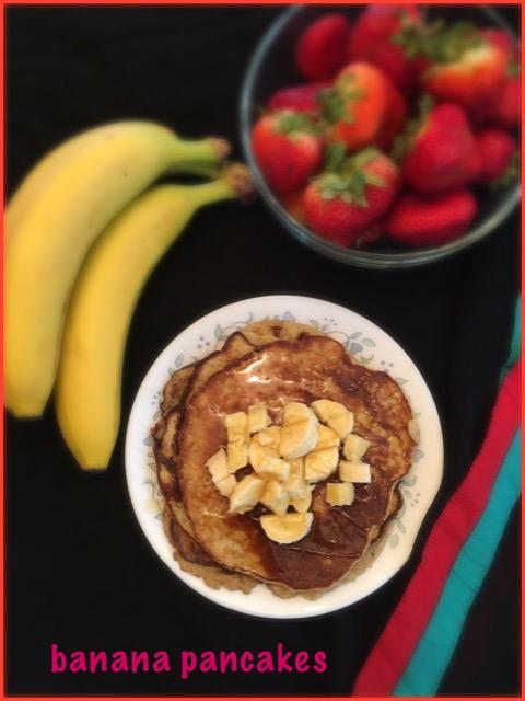 Banana Pancakes ~ 3 Ingredient Recipe