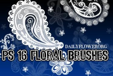 Tentunya jenis bentuk yang satu ini sudah sering kita lihat ya Kumpulan Beautiful Floral Brush untuk Photoshop