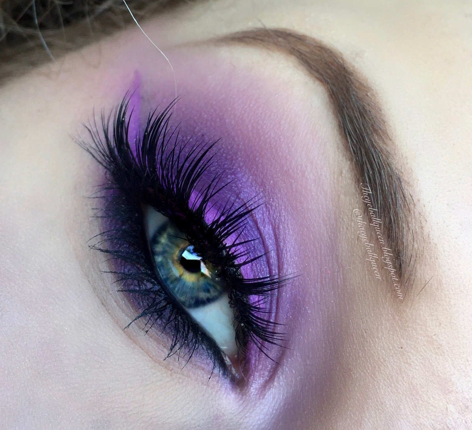 Electric Purple Orchid Smokey Eye Makeup Tutorial | Tha