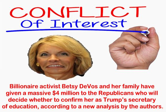 Conflicts Of Devos Donald Trump Betsy >> Big Education Ape Conflicts Of Devos Center For American Progress