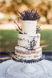 Patterned Lavender Wedding Cakes for Rustic Wedding Themes