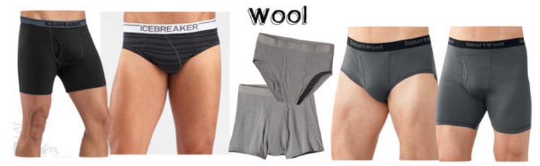 Men's wool travel underwear