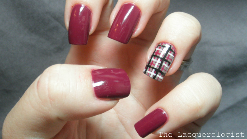 Opi Casino Royale And Plaid Nail Art Casual Contrast