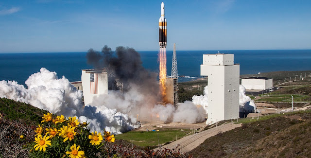 A United Launch Alliance (ULA) Delta IV Heavy rocket carrying a critical payload for the National Reconnaissance Office (NRO) denoted NROL-71 lifted off from Space Launch Complex-6 on Jan. 19 at 11:10 a.m. PST. The mission is in support of our country's national defense.
