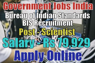 Bureau of Indian Standards BIS Recruitment 2018