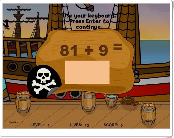 """""""Pirates II - Division"""" (Juego de Matemáticas de Primaria)"""