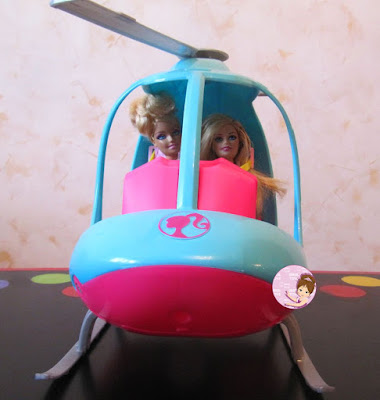 Barbie helicopter playset