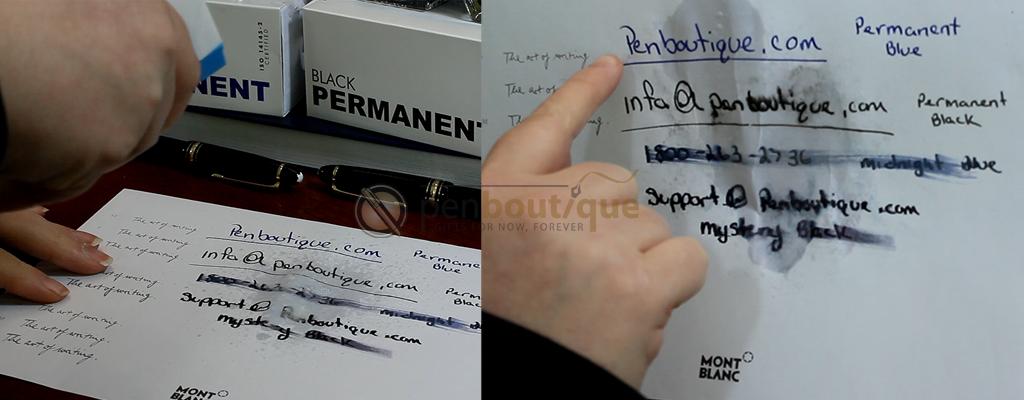 Windex Test on Montblanc Permanent Inks