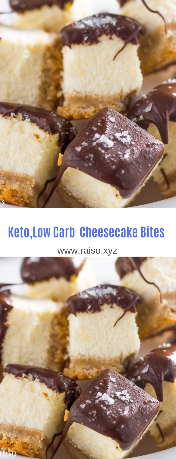 Keto Cheesecake Bites (Low Carb, Sugar Free)