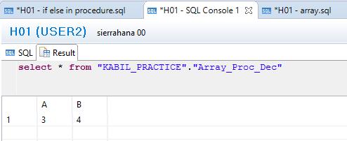 Arrays in SAP HANA | HANA
