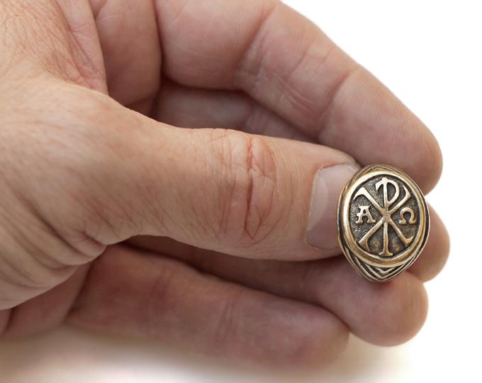 купить кольцо хризма хримсон альфа омега что подарить христианину подарки симферополь