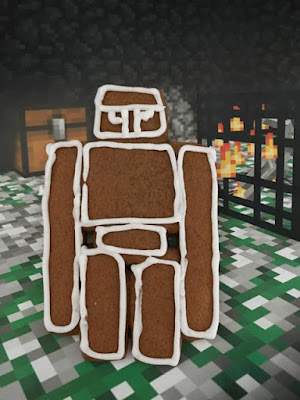 Minecraft iron golem biscuits
