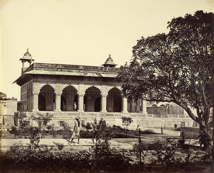 Marble Palace in the Agra Fort - Agra c1860's