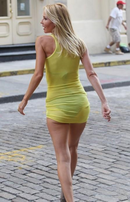 Vanessa Branch See Through Dress Exposed Bra And Underwear