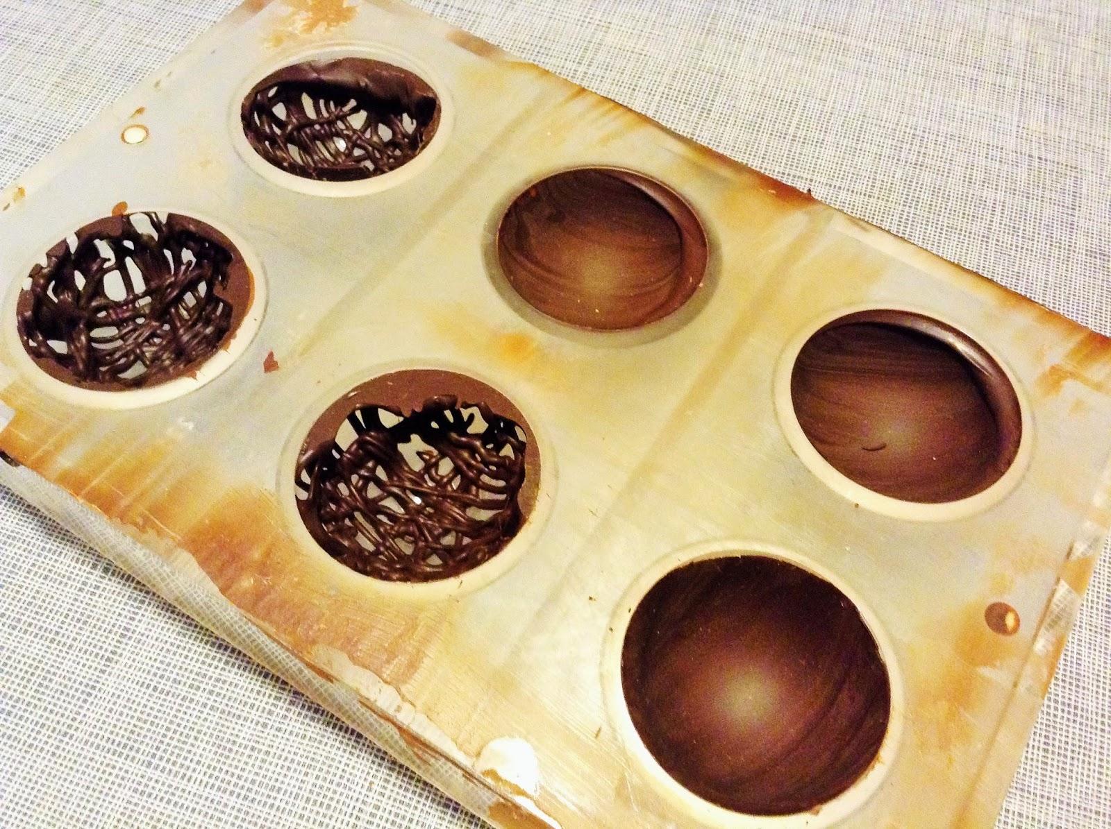 Sphères dentelle en chocolat