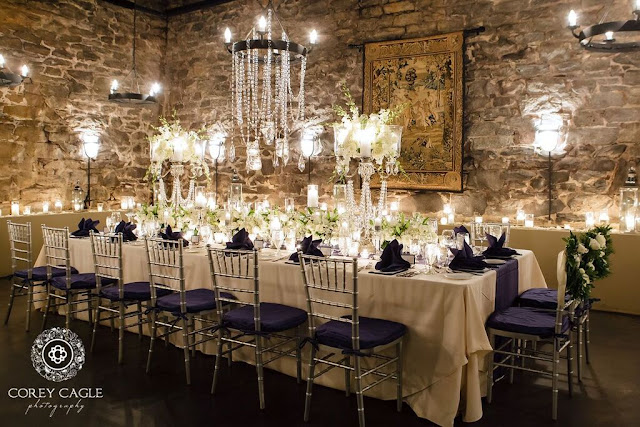 Banquet table in the Champagne Cellar | Corey Cagle Photography