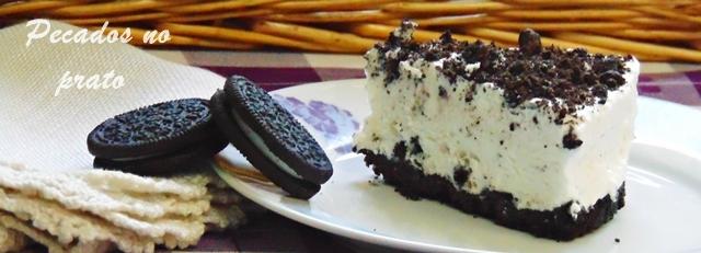 Receita de cheesecake de Oreo