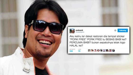 Tweet 'Pork Free' Zed Zaidi Dikritik Hebat