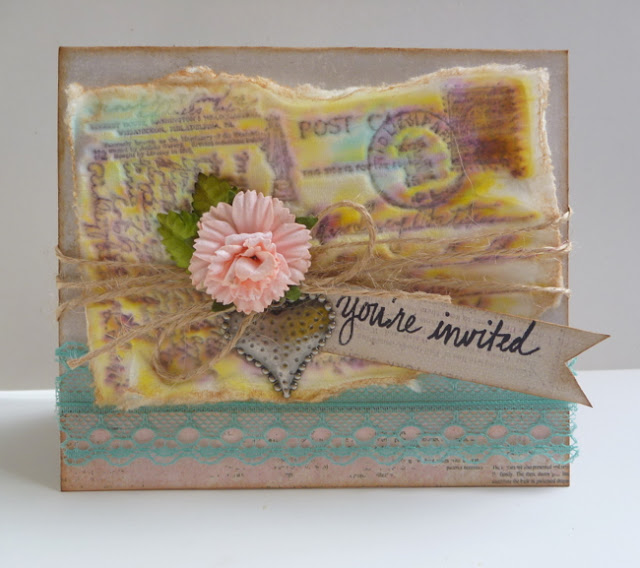 Faux Paper Casting You're Invited Card Tutorial by Dana Tatar