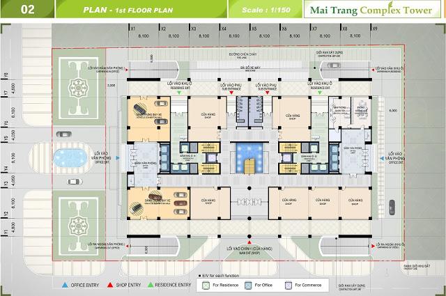 Thông tin mặt bằng chi tiết dự án chung cư Sunshine Center
