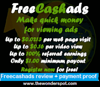 Freecashads review + payment proof - Get paid to click + Get paid to Watch + Get Paid to post