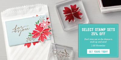 25% off selected Stamp Sets in November 2016 check here