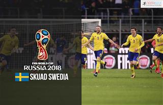 Skuad Susunan Pemain Swedia di Piala Dunia 2018