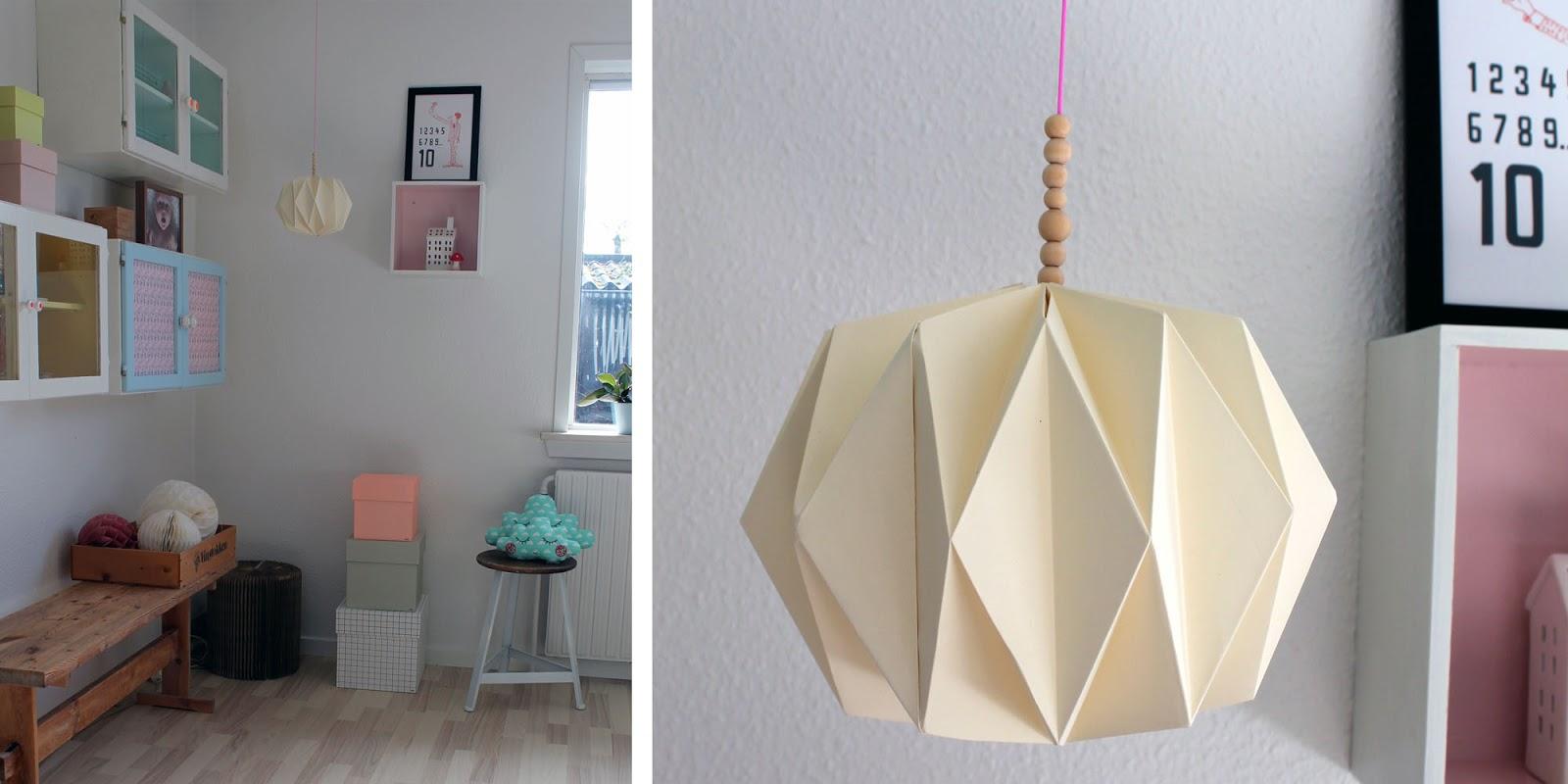 origami papirs lampe diy den kreative sky. Black Bedroom Furniture Sets. Home Design Ideas