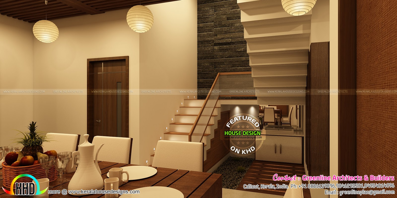Home interior by greenline architects kerala home design for Dining room designs kerala