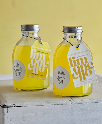 jars of homemade limoncello