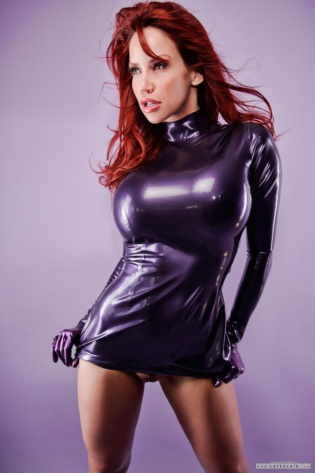 Bianca beauchamp blue latex