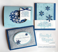 Stampin' Up! Beautiful Blizzard Card Kit  Holiday 2018 Catalog ~ www.juliedavison.com