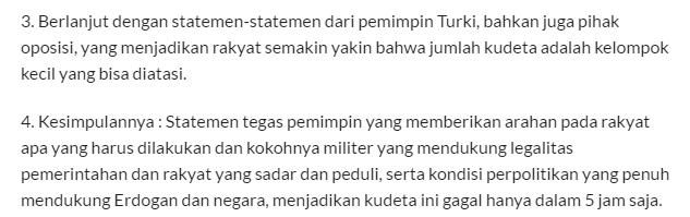 Inilah Jawaban Atas Pertanyaan, Mengapa Kudeta Militer Di Turki Berhasil Di Gagalkan dalam Waktu 5 Jam - Commando