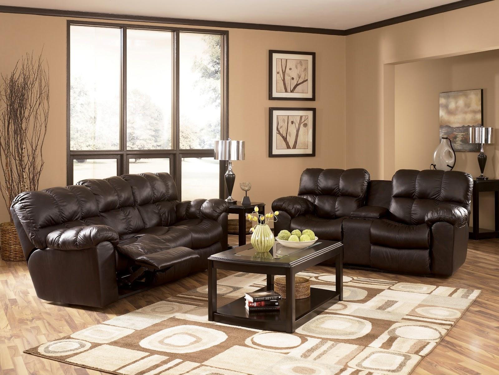 Brown Living Room Paint