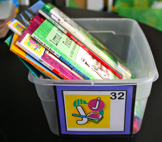 Leveled Bin and Book Labels (letters A to Z) – Ladybug's