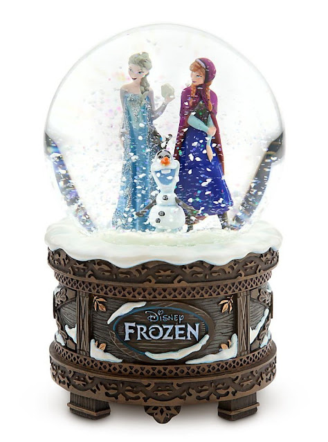 This Let It Go musical snow globe from the Disney Store is magnificent. It would make a striking gift idea for mom or any girl who loves Frozen.