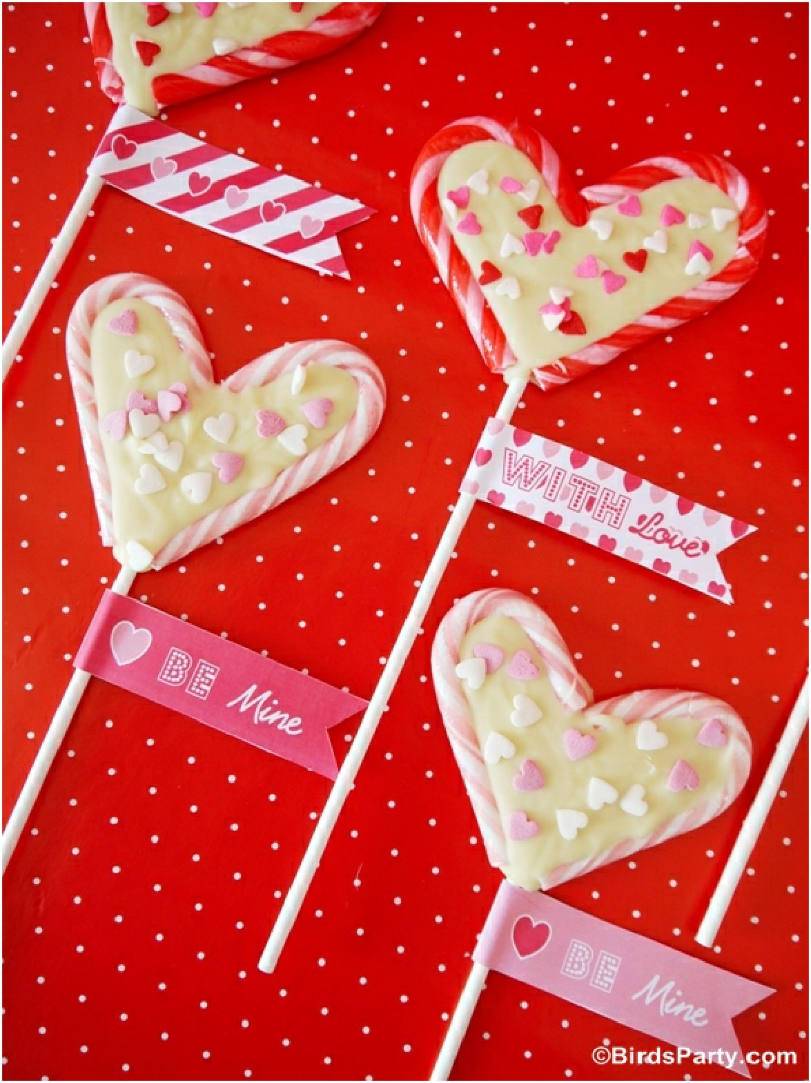 Candy Cane Valentine's Pops Recipe