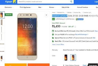 Flipkart Sale Starts: Big Discounts On Smartron T.phone P