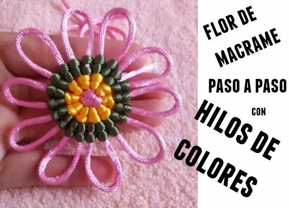 flor, macrame, hilos, flores de nudos, flores de macrame, manualidades